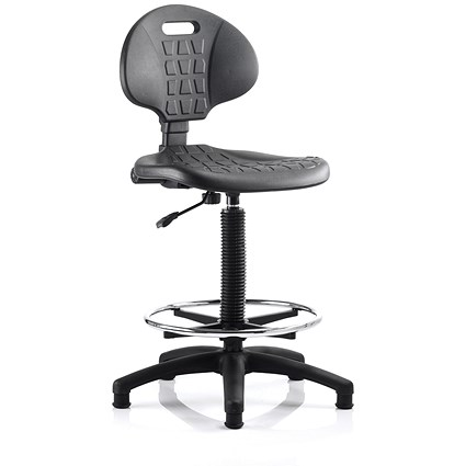 Malaga High Lab Chair - Black