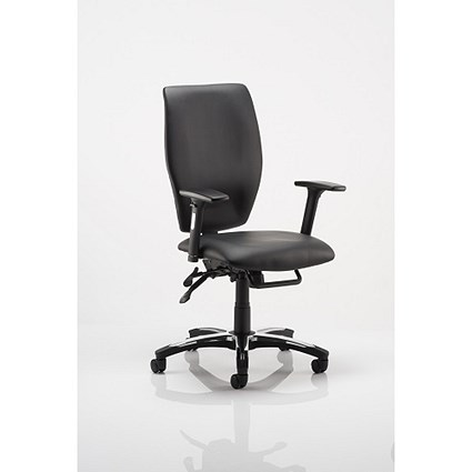 Sierra Leather Executive Chair - Black