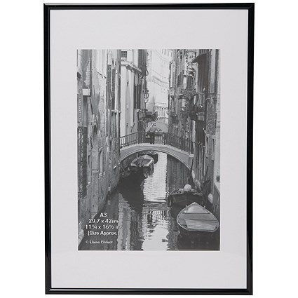 Photo Backloading Certificate Frame A3 Black