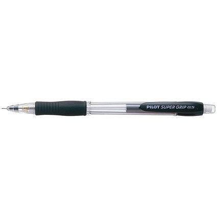 Pilot Super Grip Mechanical Pencil with Cushion Grip, 0.5mm, Pack of 12