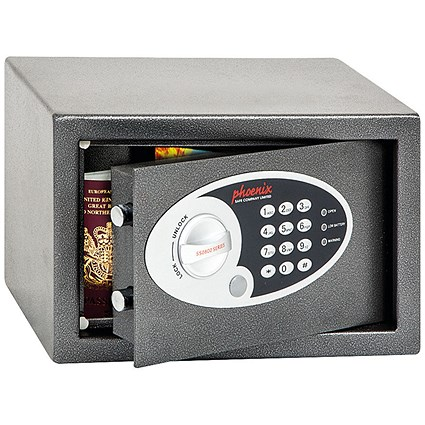 Phoenix Compact Home or Office Safe, Electronic Lock, 6kg, 10 Litre Capacity