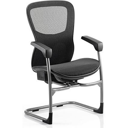 Stealth Shadow Ergo Posture Visitor Chair / Mesh / Black