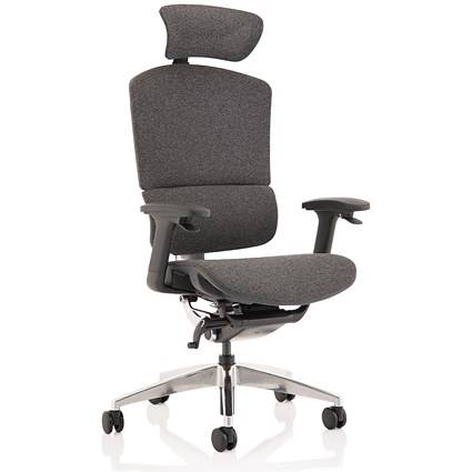 Ergo Click Plus Operator Chair, Fabrimesh, With Headrest, Grey