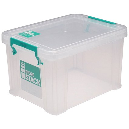 StoreStack Storage Box, Clear, 1 Litre