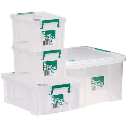 Storestack Box Bundle, 2x5L 10L 48L (Pack of 4)