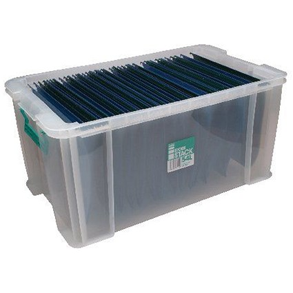 StoreStack Storage Box, Clear, 54 Litre