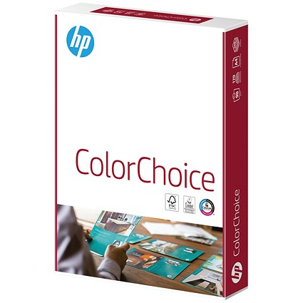 HP ColorLok A4 Smooth Laser Paper, White, 120gsm, Ream (250 Sheets)
