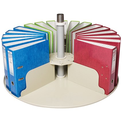 Rotadex Circular Filing Platform for 24 Lever Arch Files - Grey