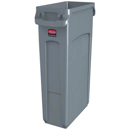 Rubbermaid Slim Jim Recycling Container Bin, W279xD588xH632mm, 60 Litre, Grey