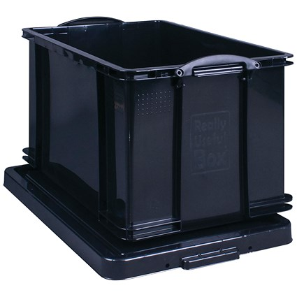 Really Useful Storage Box, 84 Litre, Black