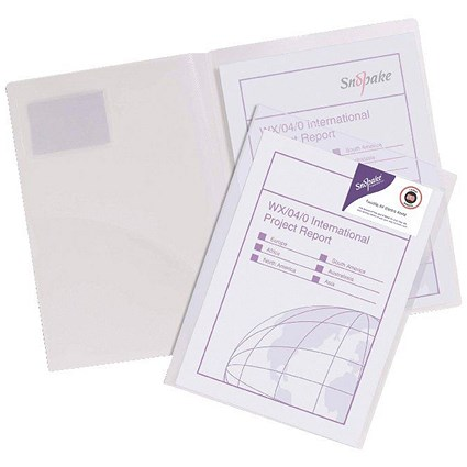Snopake TwinFile Presentation File A4 Clear (Pack of 5)