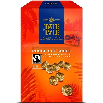 Tate and Lyle Demerara Rough-Cut Sugar Cubes - 1kg