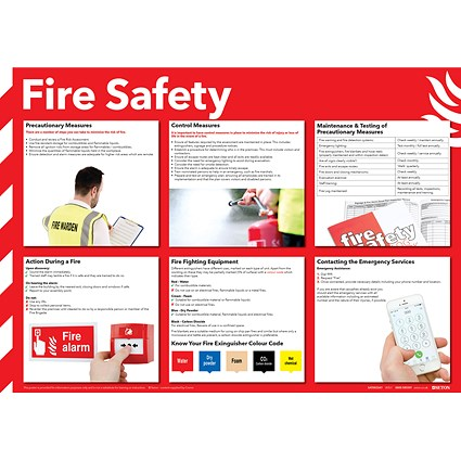 Health and Safety 420x594mm Fire Safety Poster