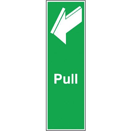 Safety Sign Pull 150x50mm Self-Adhesive (Universal symbol and colour scheme) FX05312S
