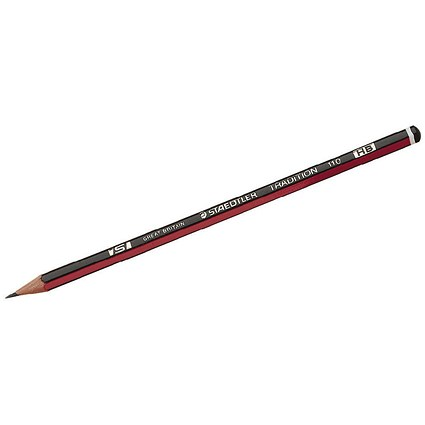 Staedtler 110 Tradition Pencil, Cedar Wood, HB, Pack of 12