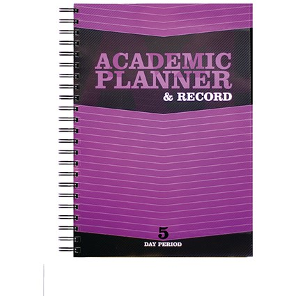 Silvine Teacher Academic Planner and Record / A4 / 5 Day Period / Purple
