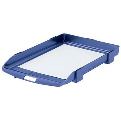 Rexel Agenda Classic 35 Letter Tray / Stackable / W382xD246xH35mm / Blue