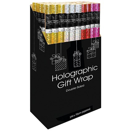 Holographic Gift Wrap Display Assorted (Pack of 50)
