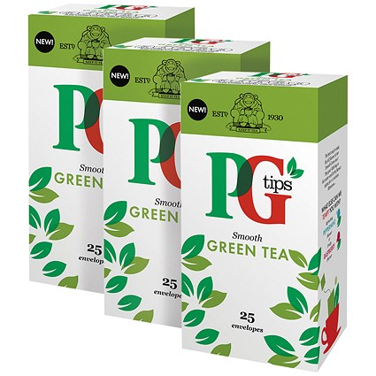 PG Tips Green Tea Envelope (Pack of 25) 3For2