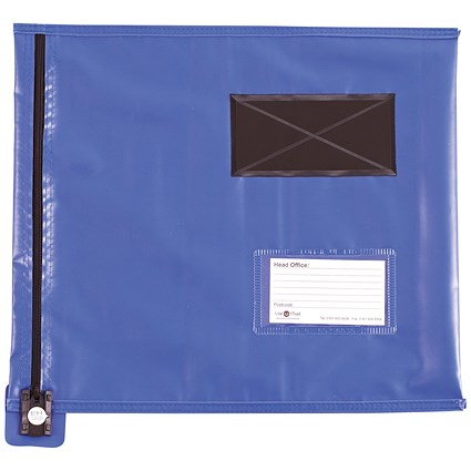 Go Secure Flat Mailing Pouch, 355x381mm, Blue