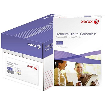Xerox NCR Digital Laser Carbonless Paper, 3 Part, White, Yellow & Pink, 5 x 167 Sheets