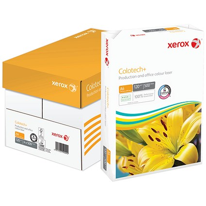 Xerox Colotech+ A4 Paper, White, 120gsm, Box (4 x 500 Sheets)