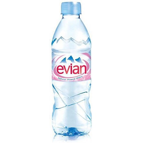 Evian natural mineral water 24 x 500ml plastic bottles for Diy mineral water bottle
