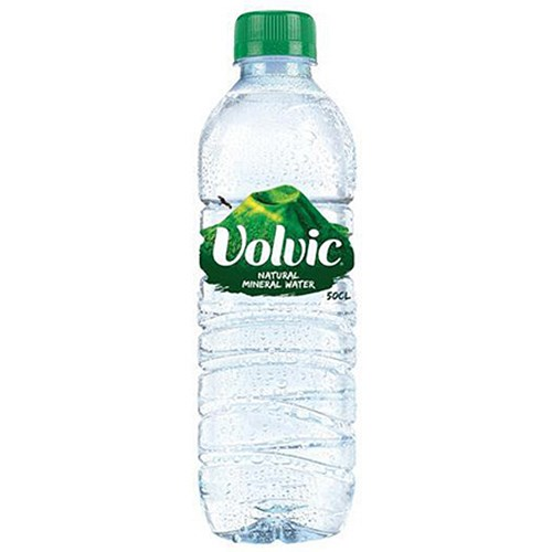 Volvic natural mineral water 24 x 500ml plastic bottles for Diy mineral water bottle