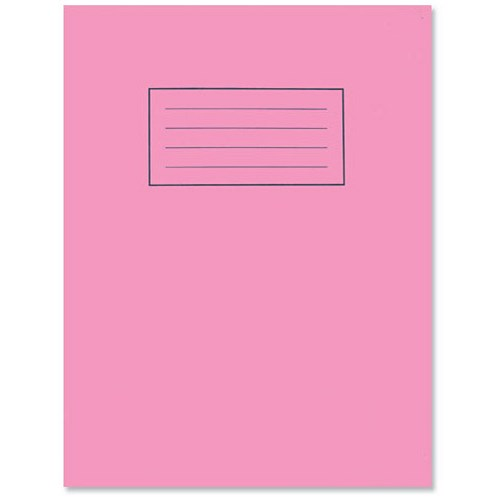 Exercise Book Cover Paper : Silvine plain exercise book mm pages pink
