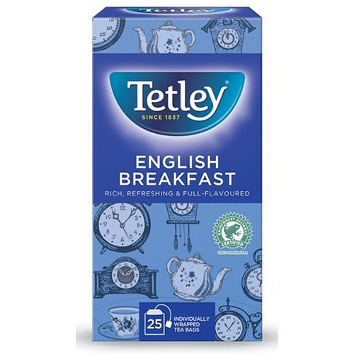 Tetley English Breakfast Drawstring Tea Bags In Envelopes