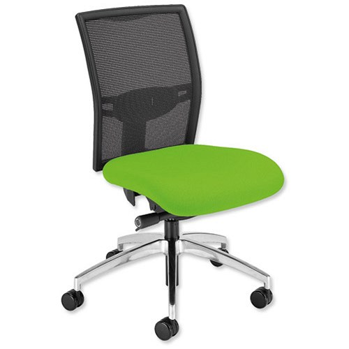 GLO Zeste Task Chair Synchronous High Mesh Back Green