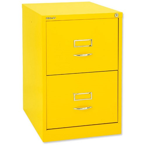 Glo By Bisley Bs2c Filing Cabinet 2 Drawer H711mm Lemon Yellow