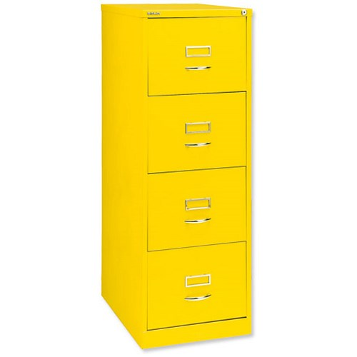 Glo By Bisley Filing Cabinet 4 Drawer H1321mm Yellow