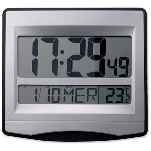 Alba Lcdtime Clock Digital 12 Or 24 Hour Display Radio