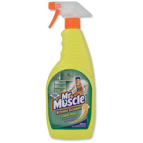 Kitchen Cleaner: Mr Muscle Kitchen Cleaner Spray Lemon Anti-Bacterial For