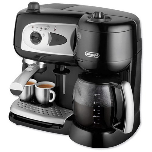 Delonghi Filter Coffee Maker : De Longhi Combi Coffee Maker Espresso and Filter 1750W 15 Bar Makes 10 Cups W380xD230xH230mm