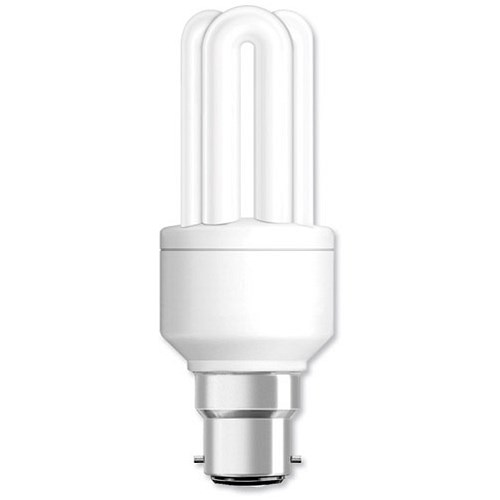 Ge Light Bulb Energy Saving Compact Fluorescent Bayonet Fitting 14w