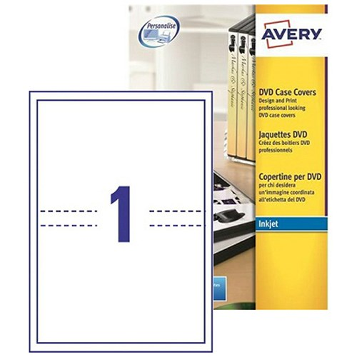 Printing Cd Case Insert: Avery DVD Case Inkjet Inserts / 273x183mm / J8437-25