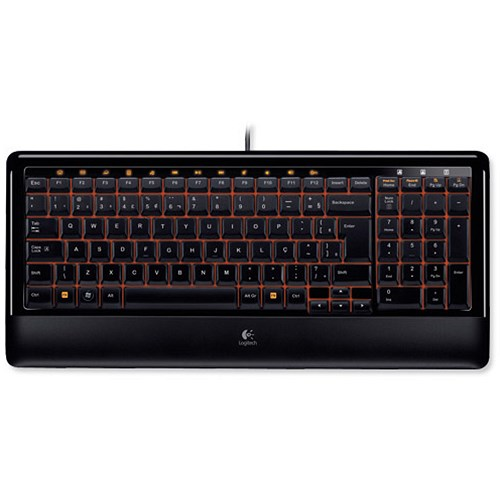 logitech k300 uk computer keyboard compact wired usb programmable f keys black. Black Bedroom Furniture Sets. Home Design Ideas