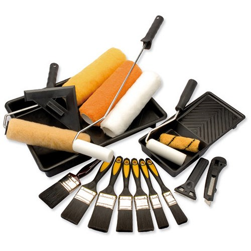 Painting And Decorating Kit Including Brushes Rollers And