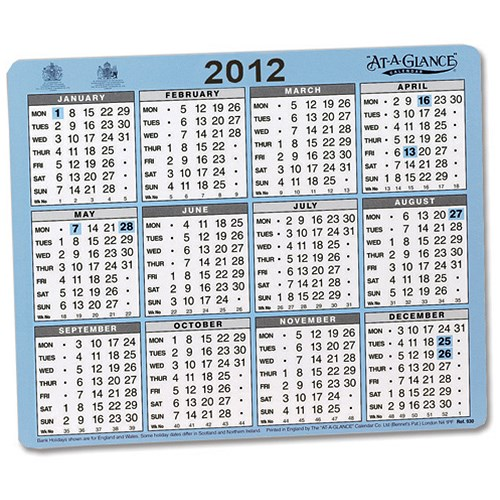 Year Calendar Desk : At a glance desk or wall calendar one year to view