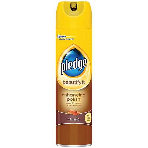 Pledge Wood 5 In 1 Classic Furniture Polish Aerosol Spray 300ml
