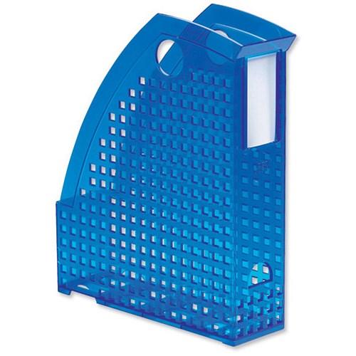 Durable trend magazine rack plastic translucent a4 blue for Trendy magazine rack
