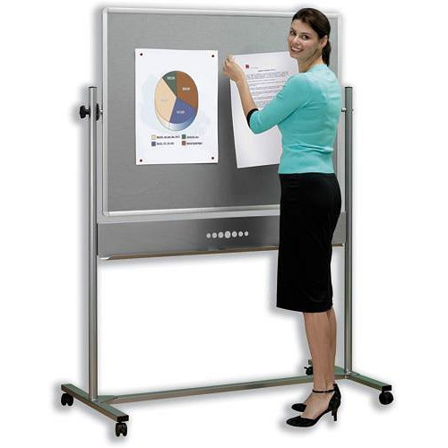 Nobo Mobile Combination Whiteboard Easel Magnetic Drywipe ...