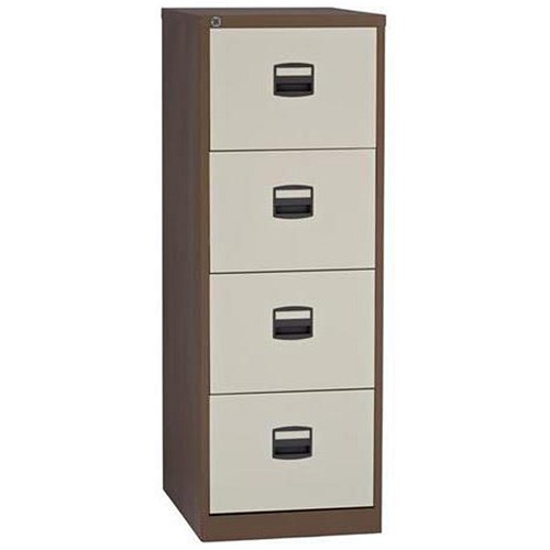 trexus filing cabinet 4 drawer foolscap brown and