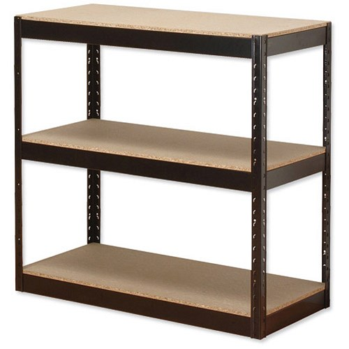influx storage shelving unit heavy duty boltless 3 shelves. Black Bedroom Furniture Sets. Home Design Ideas