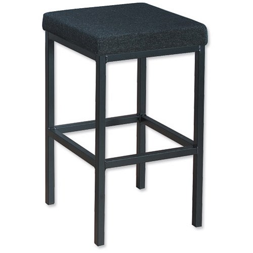 Trexus High Stool with Foot Bar Upholstered Seat  : 746256 from www.paperstone.co.uk size 500 x 500 jpeg 26kB