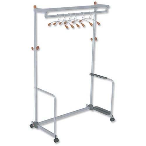 Grid Coat Rack In Office Accessories: Alba Coat And Garment Rack Mobile Lockable Castors