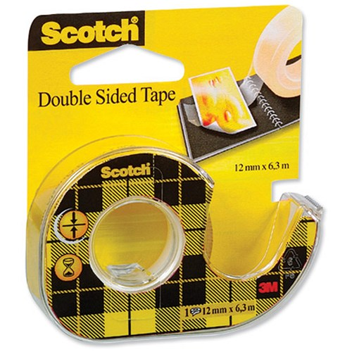 scotch double sided tape permanent long life on dispenser. Black Bedroom Furniture Sets. Home Design Ideas