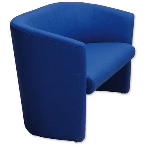 Trexus Intro Two Seat Reception Tub Sofa Blue